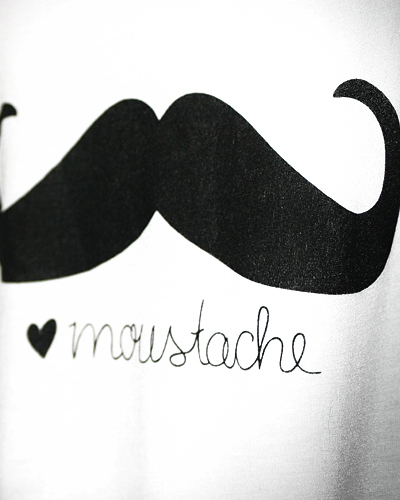 Moustache Cropped Top