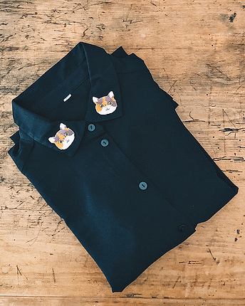 cat collar blouse