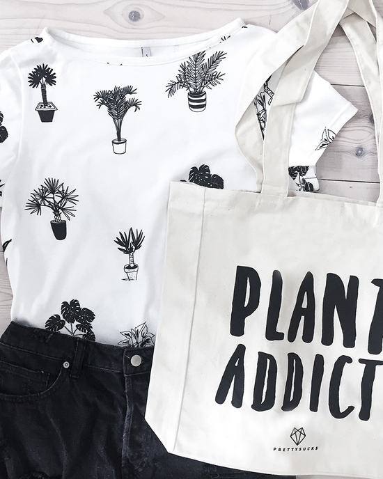 Plants Addict allover Print T-Shirt