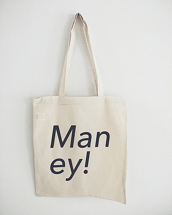 Man ey tote bag