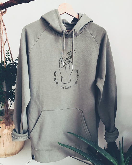 Eat plants - be kind - love animals hoodie