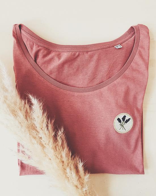 Lavendel patch t-shirt
