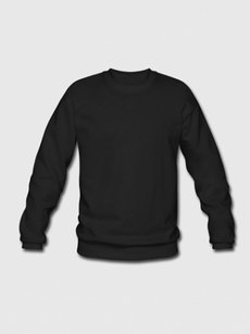Unisex sweater black 95 medium