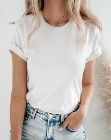 Basic woman shirt white 10 medium
